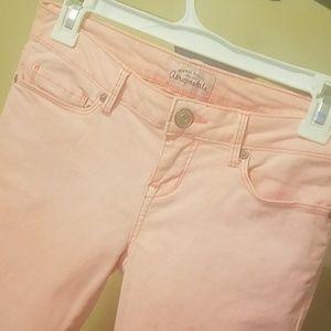 "Aeropostale ""Ashley"" Peachy Pink Ultra Skinny jean"